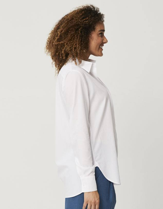 Tencel & Cotton Boyfriend Shirt