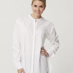 One P Long French Shirt in White.