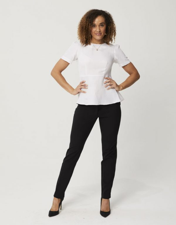 One P Classic Slim Line Pants in Black.