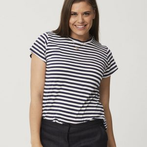One P Round Neck T Shirt - Stripe