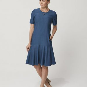One P Drop Waist Dress in Moroccan Blue.