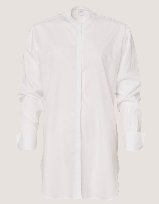 One P Long French Shirt White.