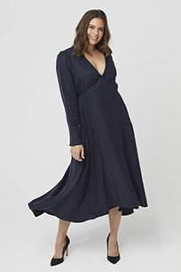 One P Design Wrap Dress Long Sleeve