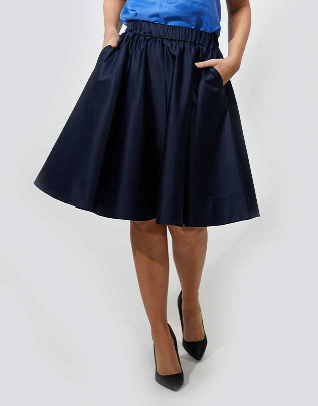One P Design Round Skirt Blue
